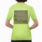 Little Face Women s Green T-Shirt Back