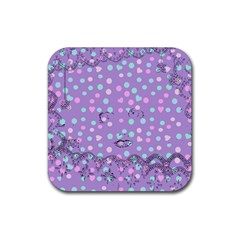 Little Face Rubber Coaster (square)  by snowwhitegirl