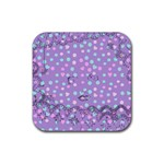 Little Face Rubber Square Coaster (4 pack)  Front