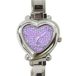 Little Face Heart Italian Charm Watch Front