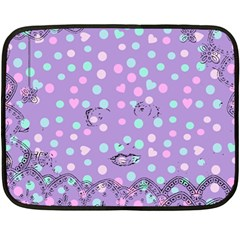 Little Face Double Sided Fleece Blanket (mini)  by snowwhitegirl