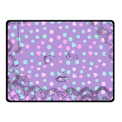 Little Face Double Sided Fleece Blanket (small)  by snowwhitegirl