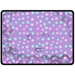 Little Face Double Sided Fleece Blanket (large)  by snowwhitegirl