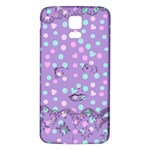 Little Face Samsung Galaxy S5 Back Case (White) Front