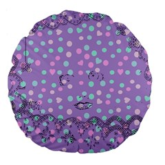 Little Face Large 18  Premium Flano Round Cushions by snowwhitegirl