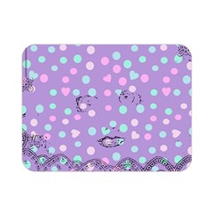 Little Face Double Sided Flano Blanket (mini)  by snowwhitegirl