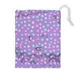 Little Face Drawstring Pouches (Extra Large) Front