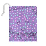Little Face Drawstring Pouches (Extra Large) Back