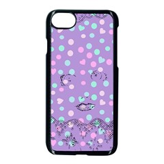 Little Face Apple Iphone 7 Seamless Case (black) by snowwhitegirl