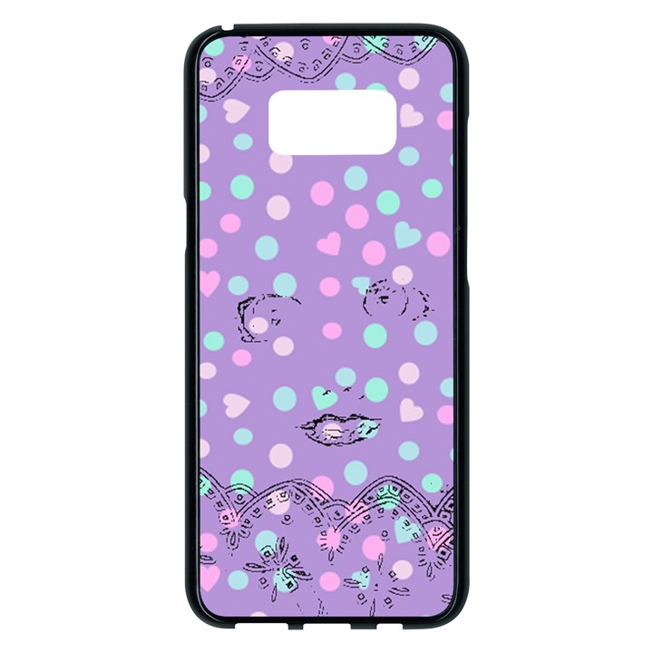 Little Face Samsung Galaxy S8 Plus Black Seamless Case