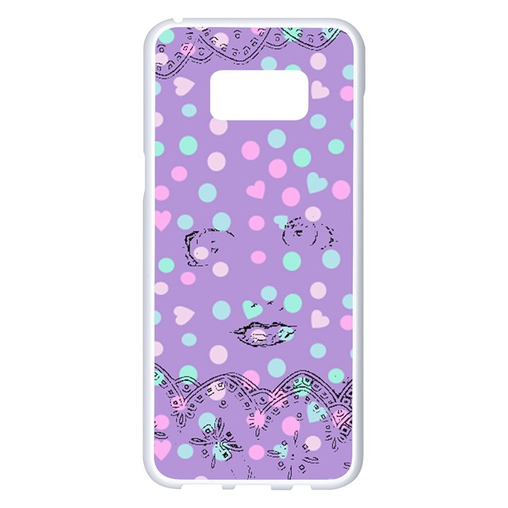 Little Face Samsung Galaxy S8 Plus White Seamless Case