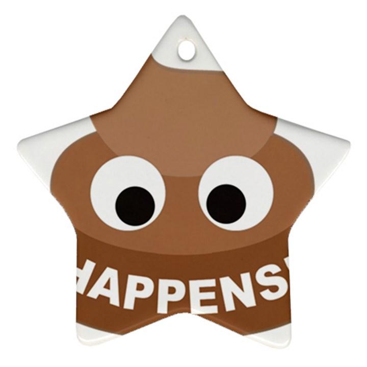 Poo Happens Ornament (Star)
