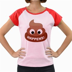 Poo Happens Women s Cap Sleeve T Shirt