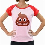 Poo Happens Women s Cap Sleeve T-Shirt Front