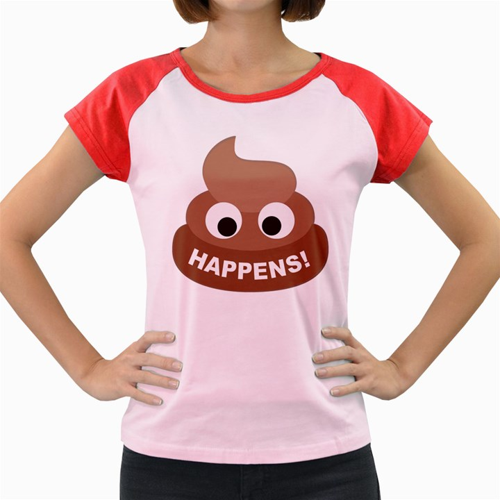 Poo Happens Women s Cap Sleeve T-Shirt