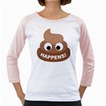 Poo Happens Girly Raglans Front