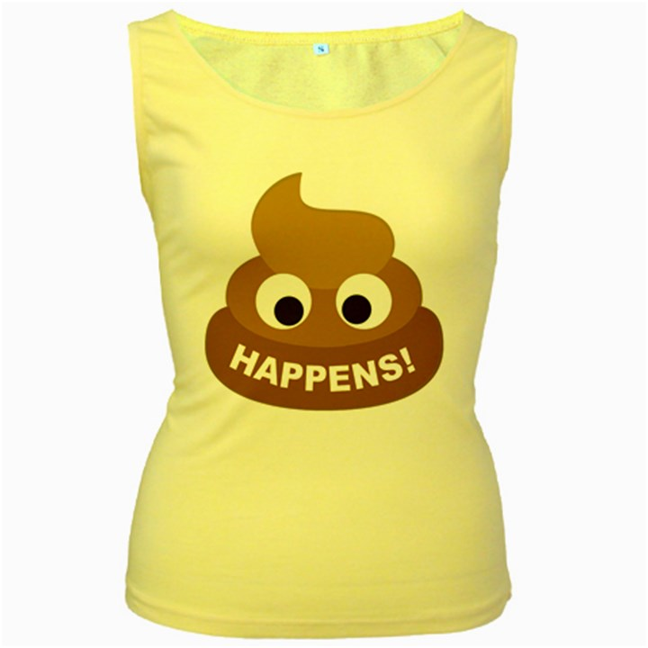 Poo Happens Women s Yellow Tank Top