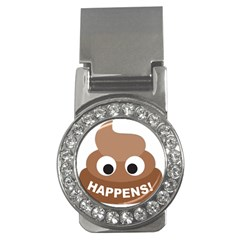 Poo Happens Money Clips (cz)  by Vitalitee