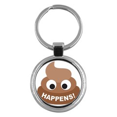 Poo Happens Key Chains (round)