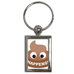 Poo Happens Key Chains (rectangle)