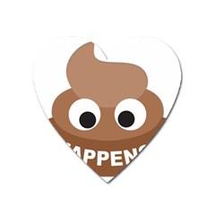 Poo Happens Heart Magnet