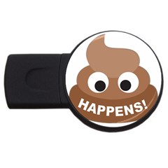 Poo Happens Usb Flash Drive Round (2 Gb)