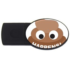 Poo Happens Usb Flash Drive Oval (2 Gb) by Vitalitee