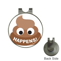 Poo Happens Hat Clips With Golf Markers
