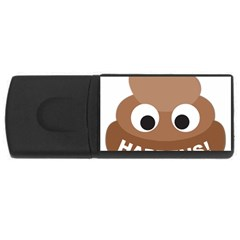 Poo Happens Rectangular Usb Flash Drive