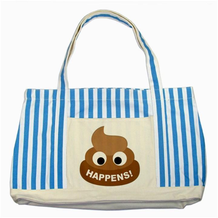 Poo Happens Striped Blue Tote Bag