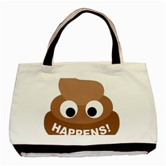 Poo Happens Basic Tote Bag (two Sides) by Vitalitee
