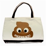 Poo Happens Basic Tote Bag (Two Sides) Front