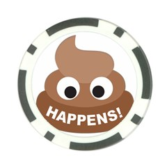 Poo Happens Poker Chip Card Guard
