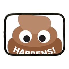Poo Happens Netbook Case (medium)  by Vitalitee