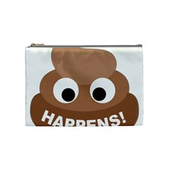 Poo Happens Cosmetic Bag (medium)  by Vitalitee