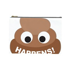 Poo Happens Cosmetic Bag (large)