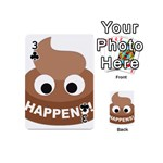 Poo Happens Playing Cards 54 (Mini)  Front - Club3
