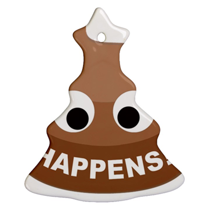 Poo Happens Christmas Tree Ornament (Two Sides)