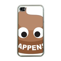 Poo Happens Apple Iphone 4 Case (clear) by Vitalitee
