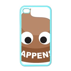 Poo Happens Apple Iphone 4 Case (color) by Vitalitee