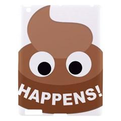 Poo Happens Apple Ipad 3/4 Hardshell Case by Vitalitee