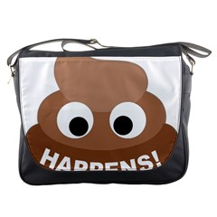 Poo Happens Messenger Bags