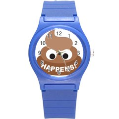 Poo Happens Round Plastic Sport Watch (s)