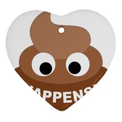Poo Happens Ornament (heart) by Vitalitee