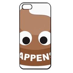 Poo Happens Apple Iphone 5 Seamless Case (black) by Vitalitee