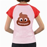 Poo Happens Women s Cap Sleeve T-Shirt Back