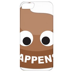 Poo Happens Apple Iphone 5 Classic Hardshell Case by Vitalitee