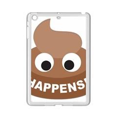 Poo Happens Ipad Mini 2 Enamel Coated Cases by Vitalitee