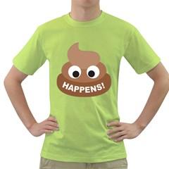 Poo Happens Green T Shirt