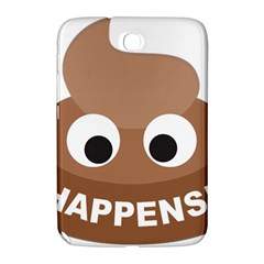Poo Happens Samsung Galaxy Note 8 0 N5100 Hardshell Case  by Vitalitee